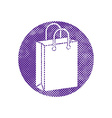 Shopping Bag icon with pixel print halftone dots vector image