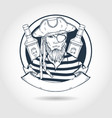 sketch pirate face vector image vector image