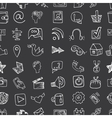 Social Media Icon seamless patternDoodle sketchy vector image vector image