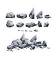 stones set in cartoon style vector image