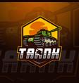 tank esport mascot logo design vector image