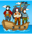 tantamaresque pirates on boat pop art vector image