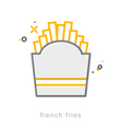 Thin line icons French fries vector image vector image