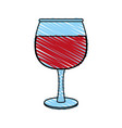 transparent wine glas icon vector image vector image