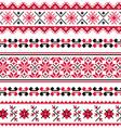 Ukrainian folk emboidery pattern or print vector image