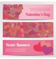 Valentines Day horizontal banners on blue vector image vector image