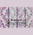 vintage colorful floral baroque pattern set vector image vector image