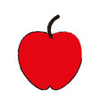 whole red apple fruit icon imag vector image