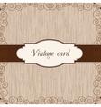 wooden vintage postcard vector image vector image