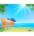 Summer seaside view poster vector image