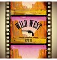 Western film strip vector image