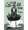 coffee on Prague vector image