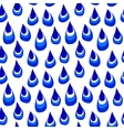 A pattern of blue Doodle drops vector image vector image