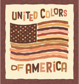 american flag anti racism poster vector image