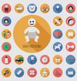 baby kids flat digital icon set vector image