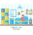 Baby Room Interior vector image vector image