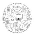BACK TO SCHOOL FLAT ICONS COLLECTION vector image