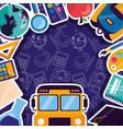 back to school supplies flat design vector image vector image