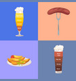 beer and food represented on vector image vector image
