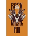 beer pub with live music vector image vector image