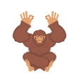 bigfoot yoga yeti yogi abominable snowman vector image