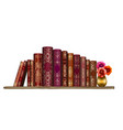 books on shelf wall sticker artistic hand-d vector image vector image