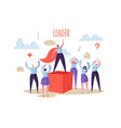 business leadership concept manager leader vector image vector image