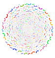 call twirl round cluster vector image vector image