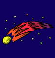 cartoon image of comet vector image