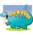 Cartoon Stegosaurus Running vector image vector image
