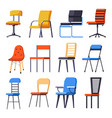 chairs or armchairs seats or interior design vector image