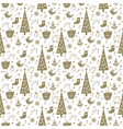 christmas background pattern white gold vector image