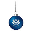 christmas ball snowflake on white background vector image