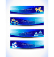 christmas blue color headers vector image