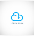 cloud download arrow logo vector image vector image