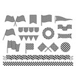 collection checkered flag flat vector image vector image