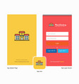 company hospital splash screen and login page vector image vector image
