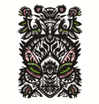 decorative floral pattern on a white background vector image vector image