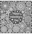 Design of card for Valentines day vector image vector image