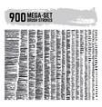 dirty inked brushstroke mega super set 900 vector image vector image