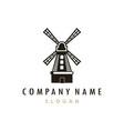 farm mill logo vector image vector image