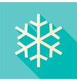 Flat Design Christmas Winter Snowflake Icon vector image vector image