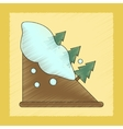 flat shading style icon snow avalanche spruce vector image vector image