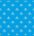 flower spring pattern seamless blue vector image