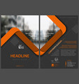 flyer template with orange stripes vector image