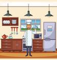 food chef cartoon vector image