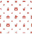 food icons pattern seamless white background vector image vector image