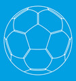 football ball icon outline style vector image vector image
