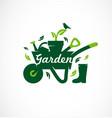 gardening icon set garden tools vector image vector image