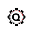 gear solution logo letter q vector image vector image